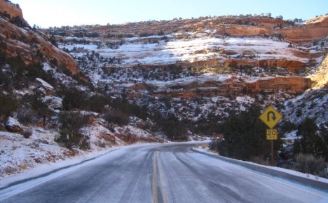 Snow in Colorado National Monument