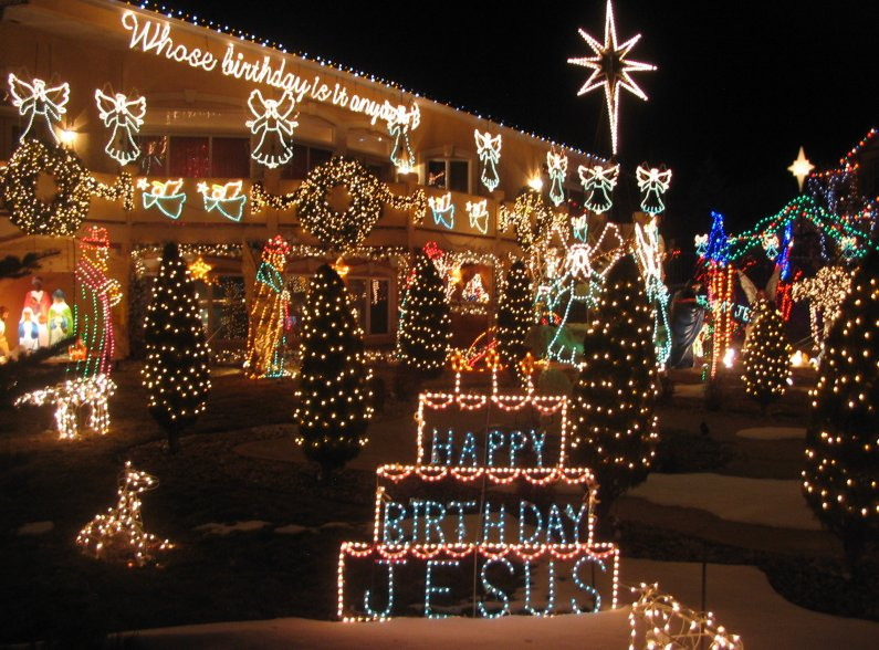 Happy Birthday Jesus . & Best Christmas Lights Displays in Colorado Springs (Outdoor ...