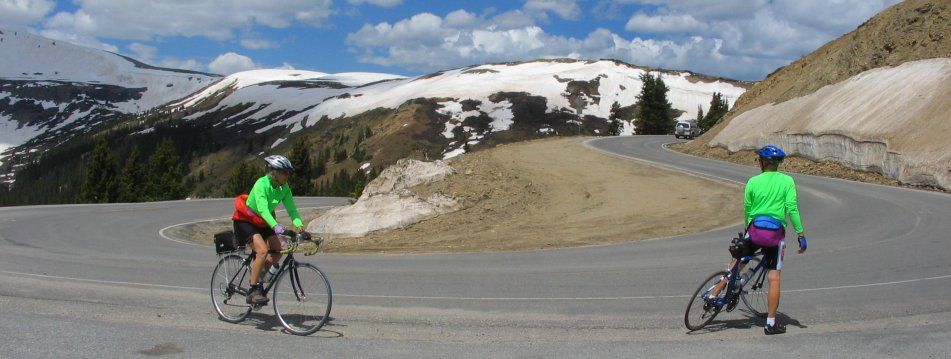 Switchback at Independence Pass Road