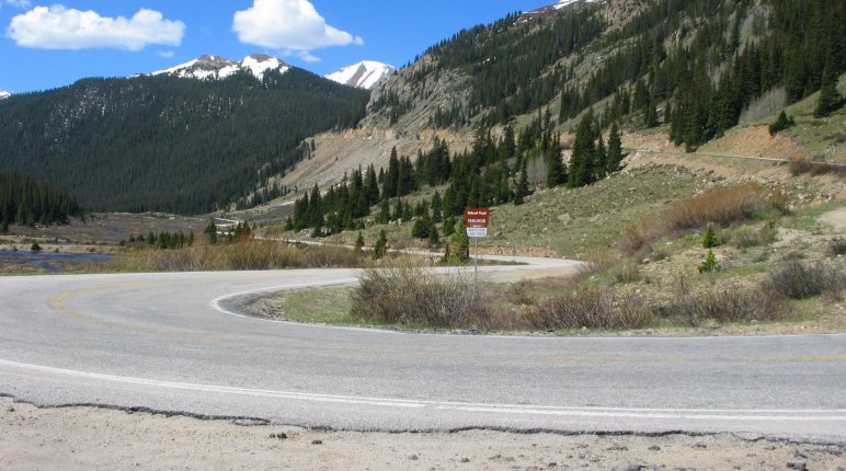 Independence Pass Road Switchback