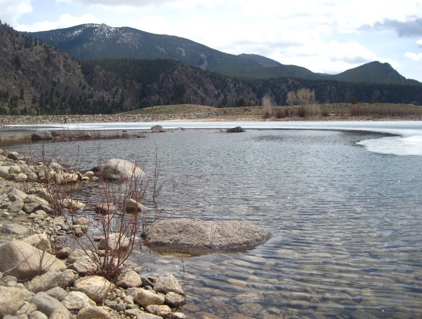 Clear creek reservoir in chaffee county co fishing and for Clear creek fishing