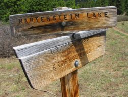 Hartenstein Lake Sign
