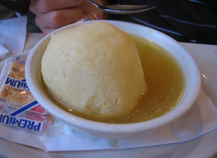 ... photo: Mark's matzo ball soup. Look at the size of that matzo ball
