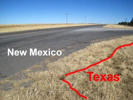 New Mexico & Texas State Line
