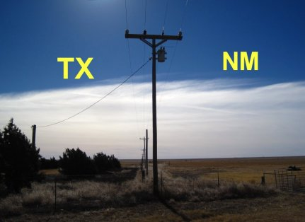 Texas & New Mexico State Line