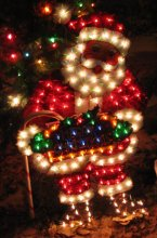 Lighted Santa Claus