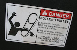 Danger Rotating Pulley