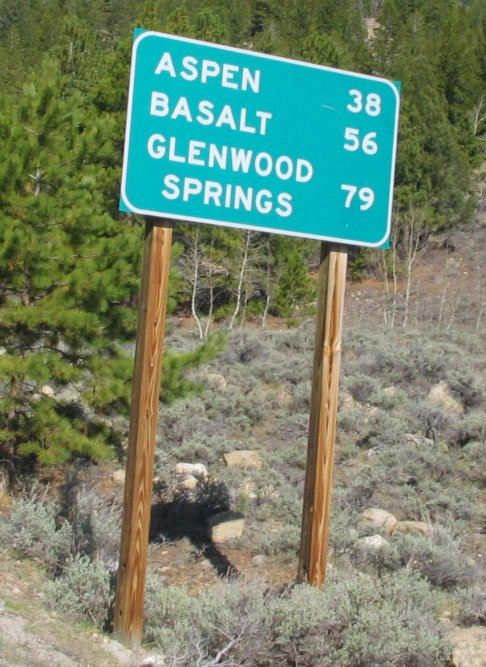 Colorado Roadway Sign